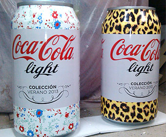 latas coca-cola light